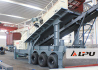 Chiny Wheel Type Axle Complete Mobile Crushing And Screening Plant , Mobile Rock Crusher fabryka