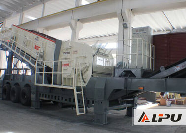 Chiny Small Impact Crusher Mobile Crushing Plant , Transport Width 3000m dystrybutor