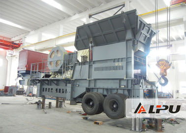 Chiny Customized Two Stage Mobile Crushing Plant / Mobile Jaw Crusher For Mining dystrybutor