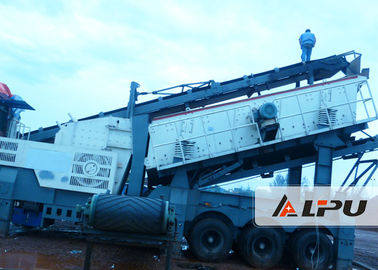 Chiny Flexible Configuration Portable Crusher Plant , Mobile Concrete Crusher fabryka
